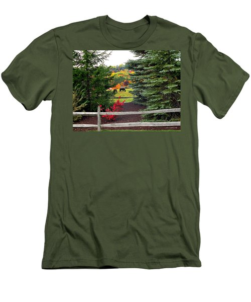 Ohio Farm In Autumn Men's T-Shirt (Athletic Fit)