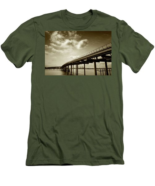Oil Bridge II Men's T-Shirt (Slim Fit) by Joseph Westrupp