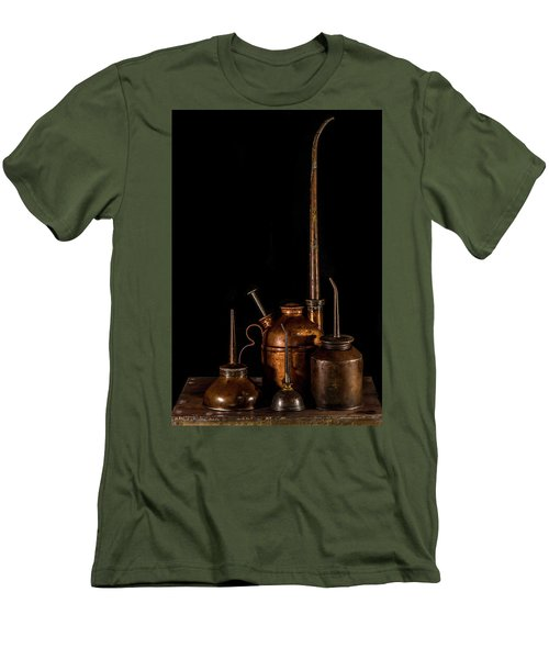 Men's T-Shirt (Slim Fit) featuring the photograph Oil Cans by Paul Freidlund