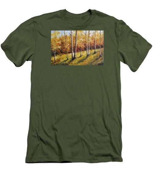 Oil Msc 028 Men's T-Shirt (Slim Fit) by Mario Sergio Calzi