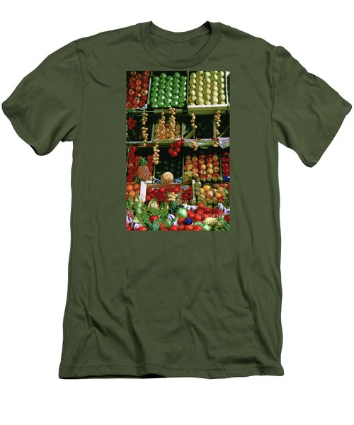 Oil Painted Faux Paris Fruit Display Men's T-Shirt (Athletic Fit)