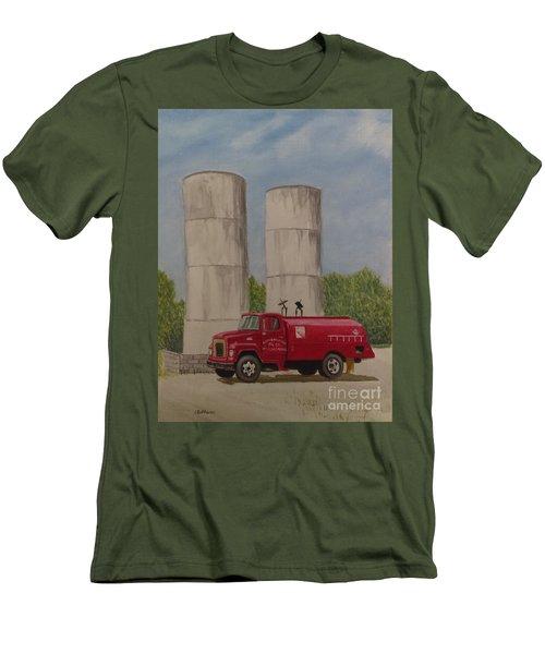 Oil Truck Men's T-Shirt (Athletic Fit)