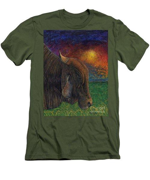 Okeechobee Brahman Men's T-Shirt (Slim Fit) by David Joyner