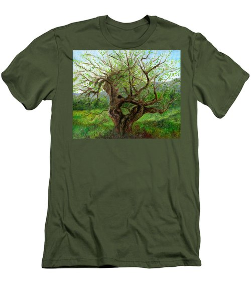 Old Apple Tree Men's T-Shirt (Slim Fit) by FT McKinstry