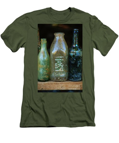 Men's T-Shirt (Slim Fit) featuring the photograph Old Bottles Hawaii by Craig Wood