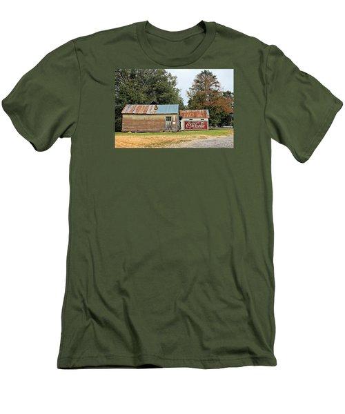 Old Buildings At Burnt Corn Men's T-Shirt (Slim Fit) by Lynn Jordan