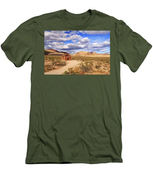 Men's T-Shirt (Slim Fit) featuring the photograph Old Cabin At Rhyolite by James Eddy