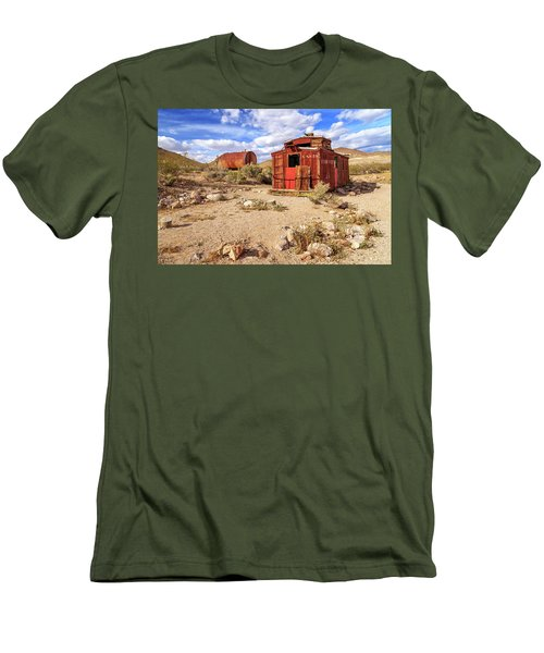 Men's T-Shirt (Slim Fit) featuring the photograph Old Caboose At Rhyolite by James Eddy