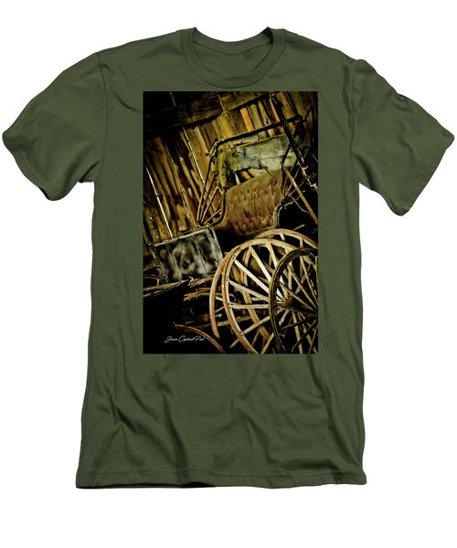 Men's T-Shirt (Slim Fit) featuring the photograph Old Carriage by Joann Copeland-Paul