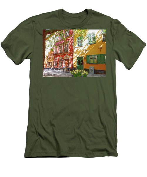 Old City Men's T-Shirt (Slim Fit) by Thomas M Pikolin