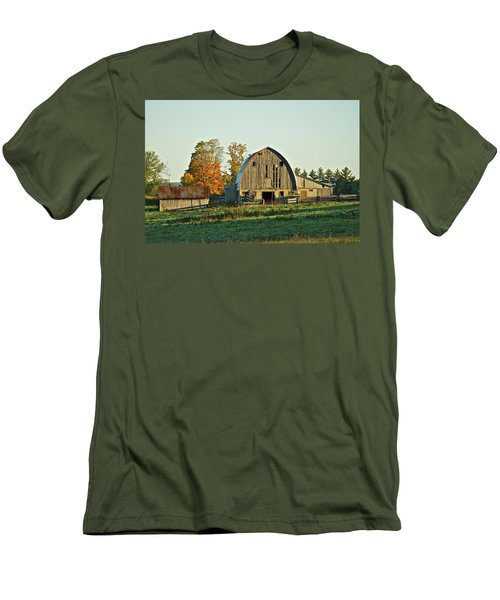 Old Country Barn_9302 Men's T-Shirt (Slim Fit) by Michael Peychich