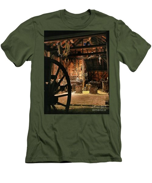 Old Forge Men's T-Shirt (Slim Fit) by Tom Cameron