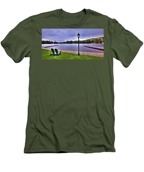 Old Forge Waterfront Men's T-Shirt (Slim Fit) by David Patterson