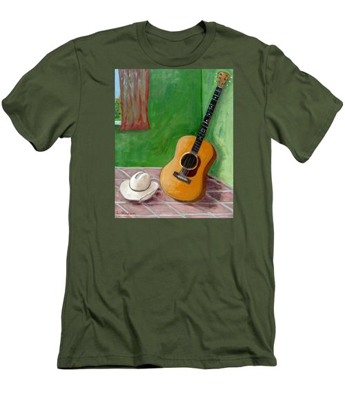 Old Friends Men's T-Shirt (Slim Fit) by Laurie Morgan