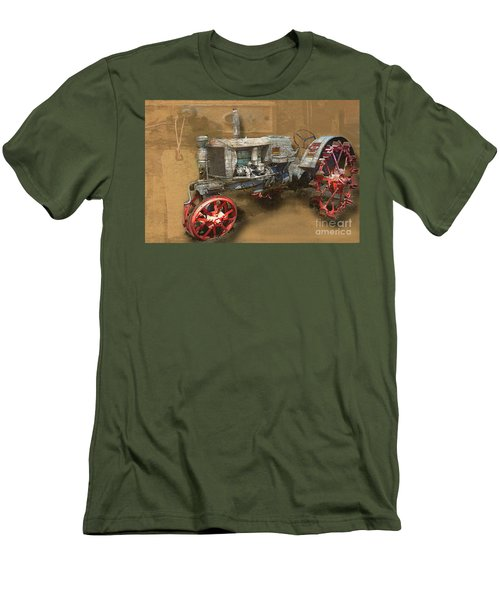 Old Grey Tractor Men's T-Shirt (Slim Fit) by Deborah Nakano