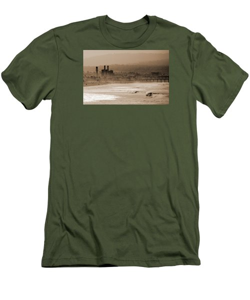 Old Hermosa Beach Men's T-Shirt (Slim Fit) by Ed Clark