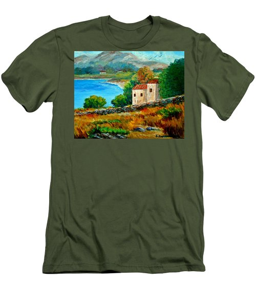 Old House In Mani Men's T-Shirt (Athletic Fit)