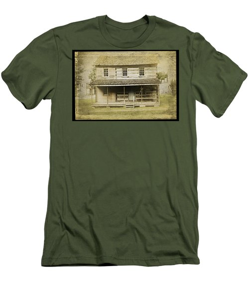 Men's T-Shirt (Athletic Fit) featuring the photograph Old Log Cabin by Joan Reese