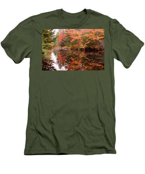 Men's T-Shirt (Athletic Fit) featuring the photograph Old Main Road Stream by Jeff Folger