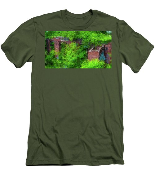 Old Mill Building In Lawrence Massachusetts Men's T-Shirt (Athletic Fit)