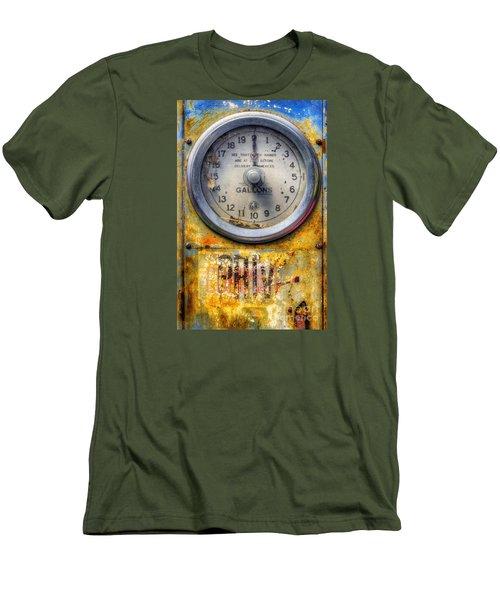 Old Petrol Pump Gauge Men's T-Shirt (Slim Fit) by Ian Mitchell
