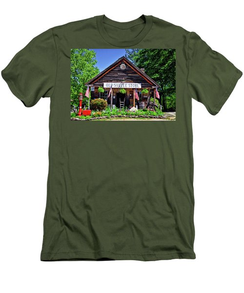 Old Sautee Store - Helen Ga 004 Men's T-Shirt (Slim Fit) by George Bostian
