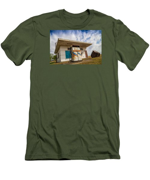 Men's T-Shirt (Slim Fit) featuring the photograph Old Servo by Keith Hawley
