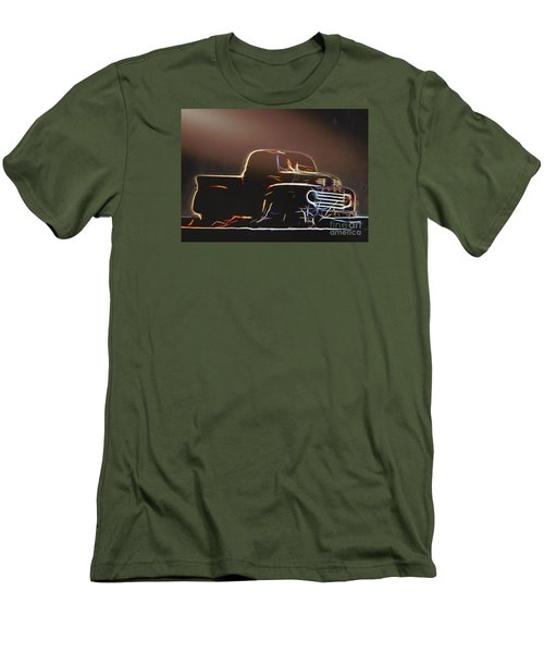 Men's T-Shirt (Slim Fit) featuring the photograph Old Sketched Pickup by Jim Lepard