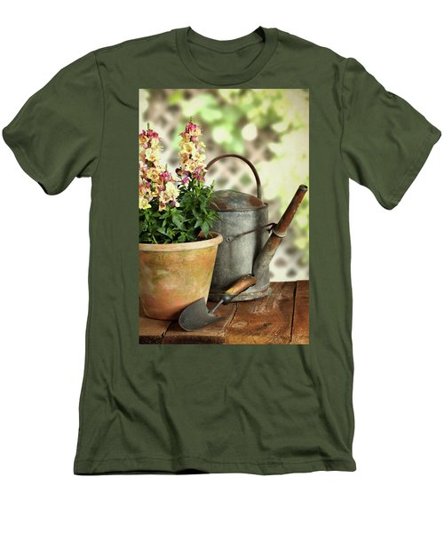 Old Watering Can With Plant Men's T-Shirt (Athletic Fit)