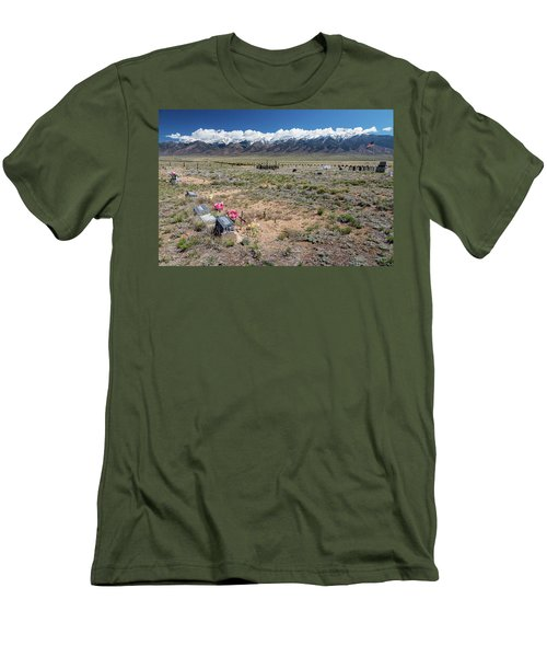 Old West Rocky Mountain Cemetery View Men's T-Shirt (Slim Fit) by James BO Insogna