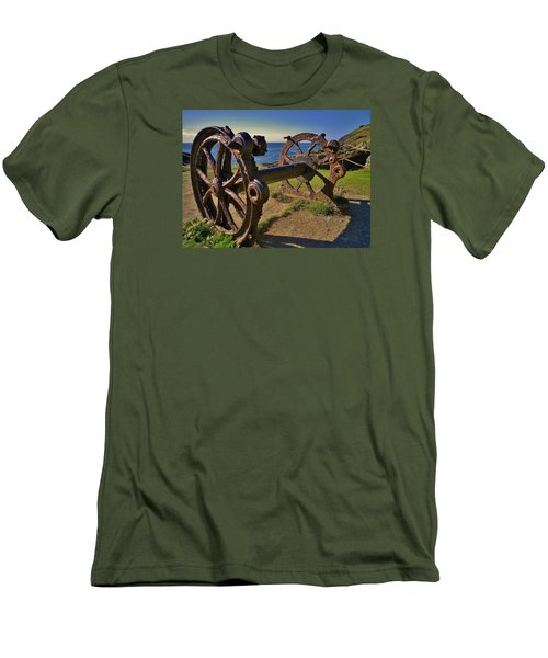 Old Winch Tintagel Men's T-Shirt (Slim Fit) by Richard Brookes