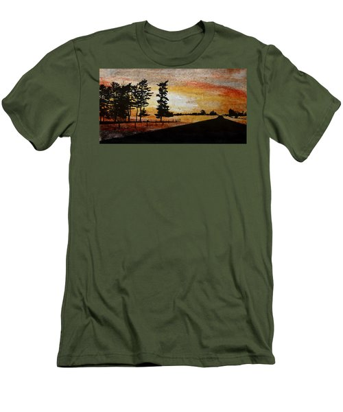 Old Windbreak Men's T-Shirt (Slim Fit) by R Kyllo