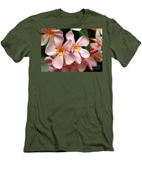 Men's T-Shirt (Slim Fit) featuring the photograph Oleander Dr. Ragioneri 2 by Wilhelm Hufnagl