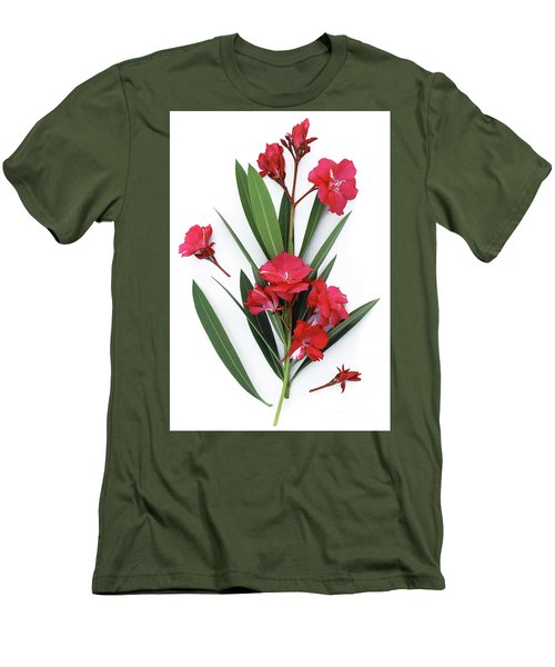 Men's T-Shirt (Slim Fit) featuring the photograph Oleander Geant Des Batailles 2 by Wilhelm Hufnagl