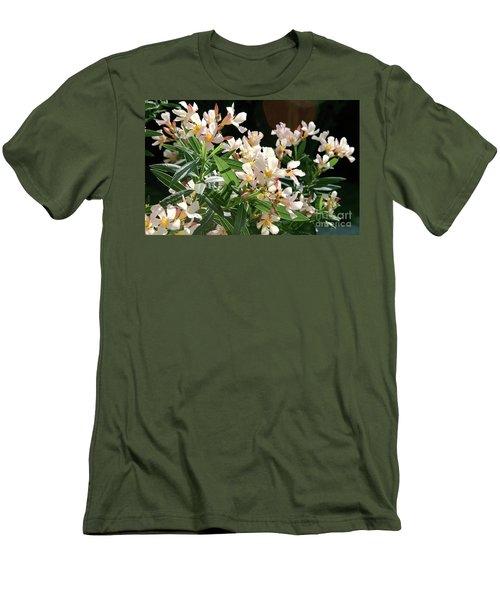 Oleander Petite Salmon 3 Men's T-Shirt (Slim Fit) by Wilhelm Hufnagl