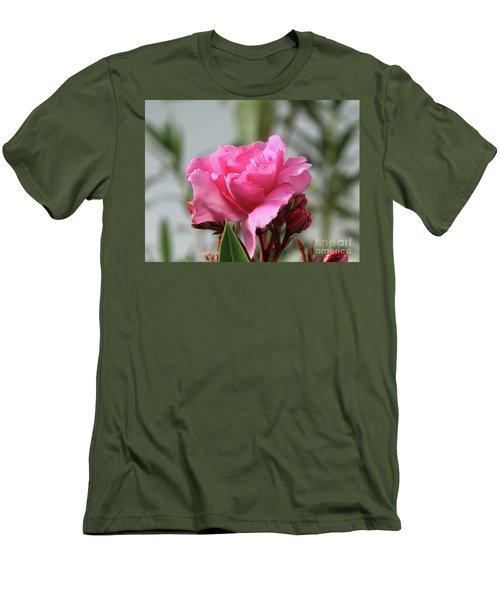 Men's T-Shirt (Slim Fit) featuring the photograph Oleander Splendens Giganteum 2 by Wilhelm Hufnagl
