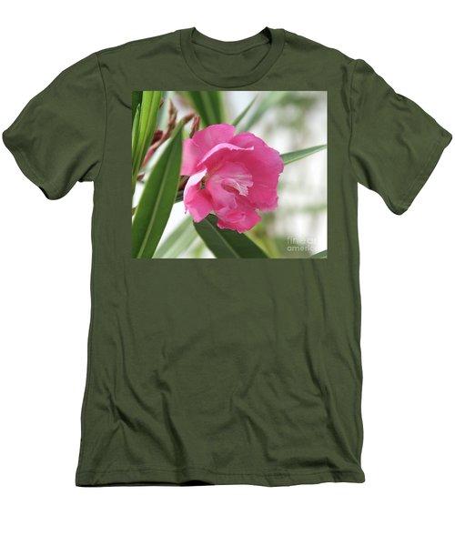 Men's T-Shirt (Slim Fit) featuring the photograph Oleander Splendens Giganteum 3 by Wilhelm Hufnagl