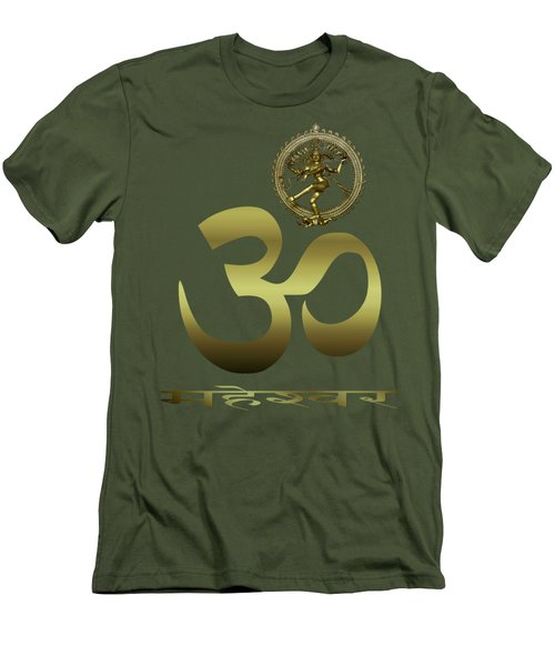 Men's T-Shirt (Slim Fit) featuring the photograph Om Shiva by Robert G Kernodle