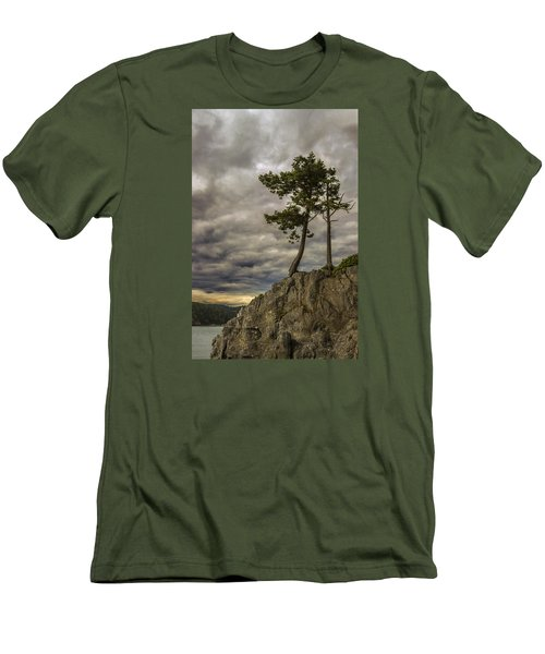 Ominous Weather Men's T-Shirt (Slim Fit) by Ed Clark