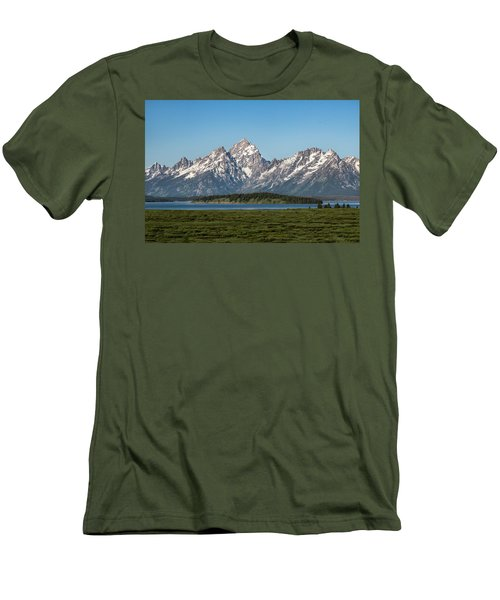 Men's T-Shirt (Slim Fit) featuring the photograph On A Clear Day by Jan Davies