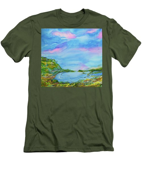 Men's T-Shirt (Slim Fit) featuring the painting On A Clear Day by Susan D Moody