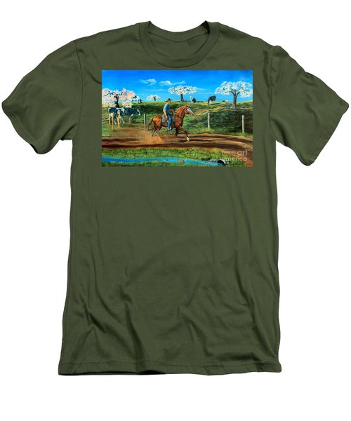 On A Spring Morning Men's T-Shirt (Slim Fit) by Ruanna Sion Shadd a'Dann'l Yoder