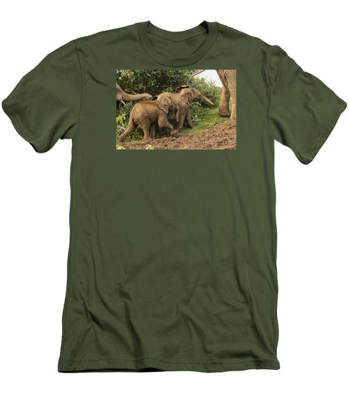 Men's T-Shirt (Slim Fit) featuring the photograph On The March by Gary Hall