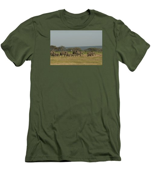 Men's T-Shirt (Slim Fit) featuring the photograph On The Move by Gary Hall