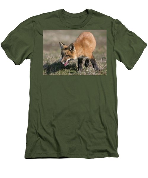 Men's T-Shirt (Slim Fit) featuring the photograph On The Prowl by Elvira Butler