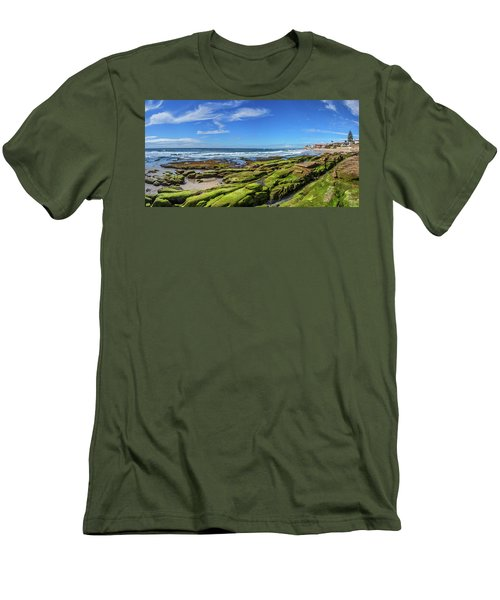 Men's T-Shirt (Slim Fit) featuring the photograph On The Rocky Coast by Peter Tellone