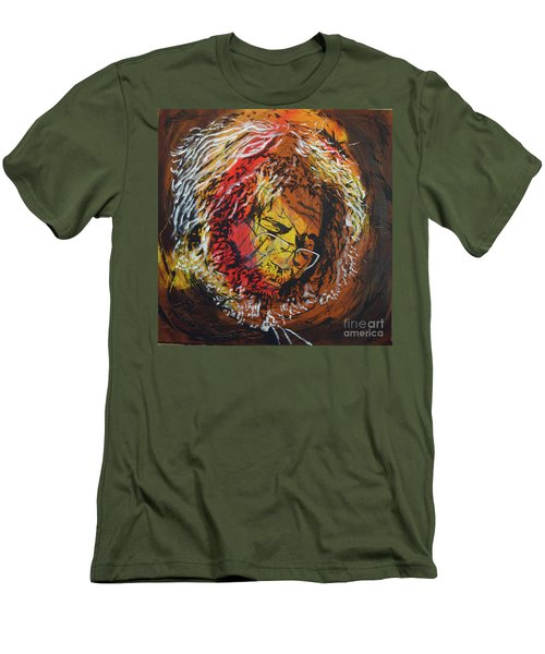 Once A Lion Men's T-Shirt (Slim Fit) by Stuart Engel