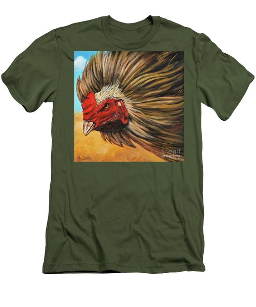 Men's T-Shirt (Slim Fit) featuring the painting One Angry Ruster by Igor Postash