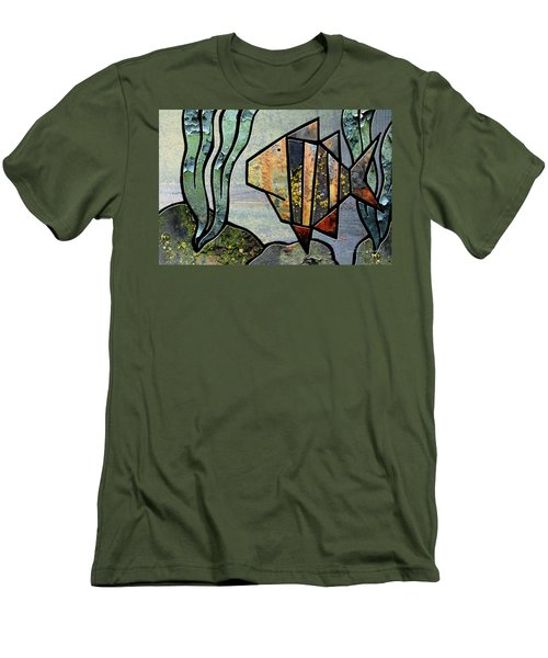 One Fish Men's T-Shirt (Slim Fit) by Joan Ladendorf
