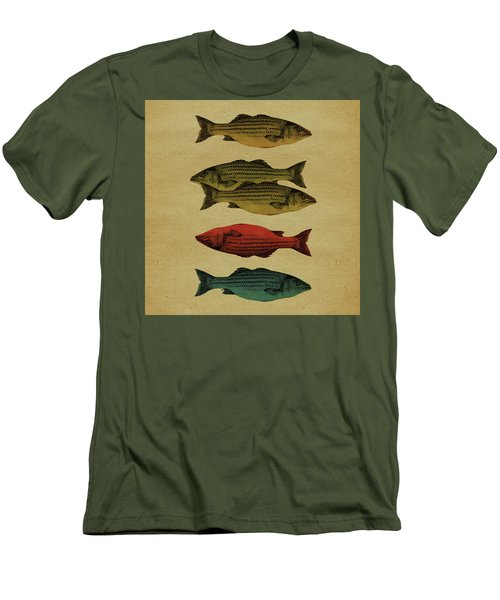 Men's T-Shirt (Slim Fit) featuring the drawing One Fish, Two Fish . . . by Meg Shearer